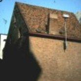 Priester Daensplein - zij- en achtergevel - Aalst - 1978