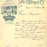 Brief - De Clercq - 1900