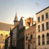 Kerkstraat - verschillende gevels - Sint-Martinuskerk - Aalst - 1977