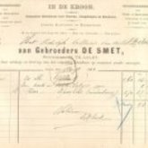 Factuur - In de Kroon - 1892