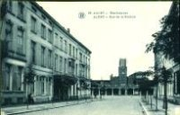 Postkaart - Stationsstraat - Aalst - 1933