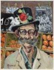 Sinaasappelverkoper met snor en hoge hoed op de Albert Cuypmarkt,  Albert Cuypst…