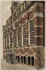 De voorgevel van het Korenmetershuisje, Nieuwezijds Kolk 28