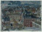 Museumplein gezien vanaf het P.T.T. gebouw aan de Pieter de Hoochstraat, via de …