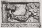 Egelantiersstraat 102, gevelsteen D'Goudt Slagers Hamer 1681, bevindt zich thans…