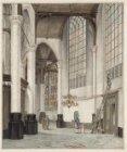Oude Kerk. De kooromgang van de Oude Kerk, gezien naar de Mariakapel
