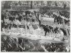 Luchtfoto van de Nieuwezijds Voorburgwal (onderaan) en omgeving en de rooms-kath…