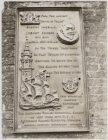 Gedenkplaat voor de Engelse ontdekkingsreiziger Henry Hudson (1565-1611) aan de …