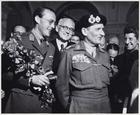 Ontvangst van veldmaarschalk B. Montgomery in bevrijd Amsterdam