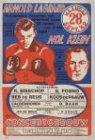 Affiche van een bokswedstrijd tussen Arnold Lagrand en Nol Klein in het Concertg…