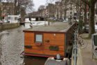 Prinsengracht (t.h.v. nr.) 156 (rechts) en woonboot 156G