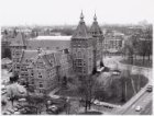 Panoramafoto van Linnaeusstraat 2, het Instituut voor de Tropen gezien van de to…