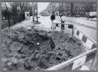 """""""Boom-krater"""" in de 's-Gravesandestraat op de plek van een omgevallen boom. De b…"""
