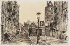 De Buiten Bantammerstraat in het verkort gezien vanaf Prins Hendrikkade. In het …
