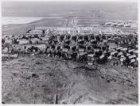Luchtfoto van de Nieuwendammerdijk en omgeving gezien  in noordelijke richting. …