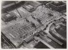 Luchtfoto van het Stadionplein gezien in noordwestelijke richting