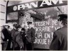 Bezetting PAN-AM, door Turkse jongeren in verband met VS-politiek,  Leidseplein …