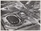 Luchtfoto van het Olympisch Stadion, Stadionplein 20, gezien in noordoostelijke …