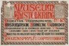 Affiche van Museum Amstelkring met openingstijden en toegangsprijzen