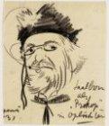 Portret van toneelspeler Louis Saalborn (1891-1957)