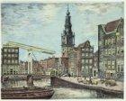 Gezien vanaf Houtgracht, het latere Waterlooplein, naar Zwanenburgwal, Raamgrach…
