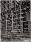 Olympisch Stadion; de betonnen ombouw in aanbouw