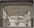 Het decor 'De deftige Burgerkamer' in de oude stadsschouwburg aan het Leidseplei…