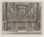 Het interieur van de Nieuwe Kerk, gezien naar het koorhek en het koor