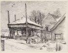 """Achtererf van boerderij """"Uitwiegn"""" van N. Hogenhout aan de Uitweg 205. In het ve…"""