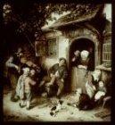 Reproductie naar het schilderij De violist (1673) door Adriaen van Ostade