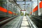De hellingbaan van ondergrondse fietsenstalling 'Locker' op het Zuidplein