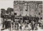 Inzamelingsaktie met behulp van de tram voor de stormramp van 1927 op het Leidse…