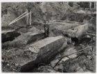 Opruiming van de funderingen van het voormalige Weesperpoortstation op het Rhijn…