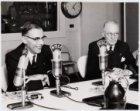 Bezoek van burgemeester G. van Hall en de heer A. Delprat aan New York