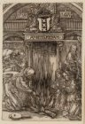 Mirakel van Amsterdam in 1345. Bedevaartprentje van de H. Stede