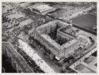 Luchtfoto van het Stadionplein en omgeving gezien in zuidwestelijke richting