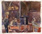 Van Baerlestraat 96, interieur Bodega Keyzer. Techniek: penseel in kleur over ho…