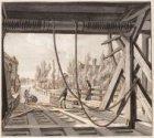 Overhaal bij einde Overtoom naar de Slotervaart gezien vanaf de Baarsjesweg. Tec…