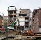 Marnixstraat (tussen) 417-427 (achterzijde, v.l.n.r.) met bouwwerkzaamheden i.v.…