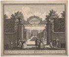 Spaer-en-Hout, de Lustplaetze van de Weduwe David Matheus de Neufville van voren…