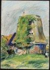 Onderstuk van een molen aan de Amstel. Gesigneerd Martin Monnickendam 1921 l.o