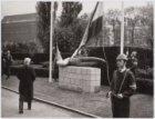 Onthulling oorlogsmonument  Gevallen Hoornblazer van Gerrit Bolhuis, door burgem…