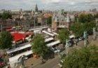 Panorama van de Nieuwmarkt met de Waag, gezien in noordwestelijke richting vanui…