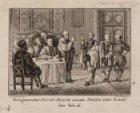 Burgemeester Joost Buick neem Filips den IIden den Eed af