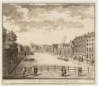 De Kloverniers Burgwal naa de St. Antonis Waag te zien