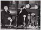 Installatie van mr. G. van Hall tot burgemeester van Amsterdam