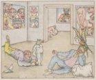 Allegorische voorstelling van de inrichting van de Salon in Arti et Amicitiae, R…