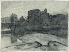 Prinseneilandsgracht gezien vanuit Breitners atelier, Prinseneiland 24B, naar de…