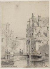 Nieuwezijds Achterburgwal, tegenwoordig de Spuistraat, gezien naar Hekelveld