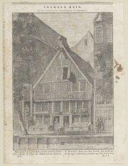 Het woonhuis van Vondel, Spuistraat 188, voorheen de Nieuwezijds Achterburgwal. …
